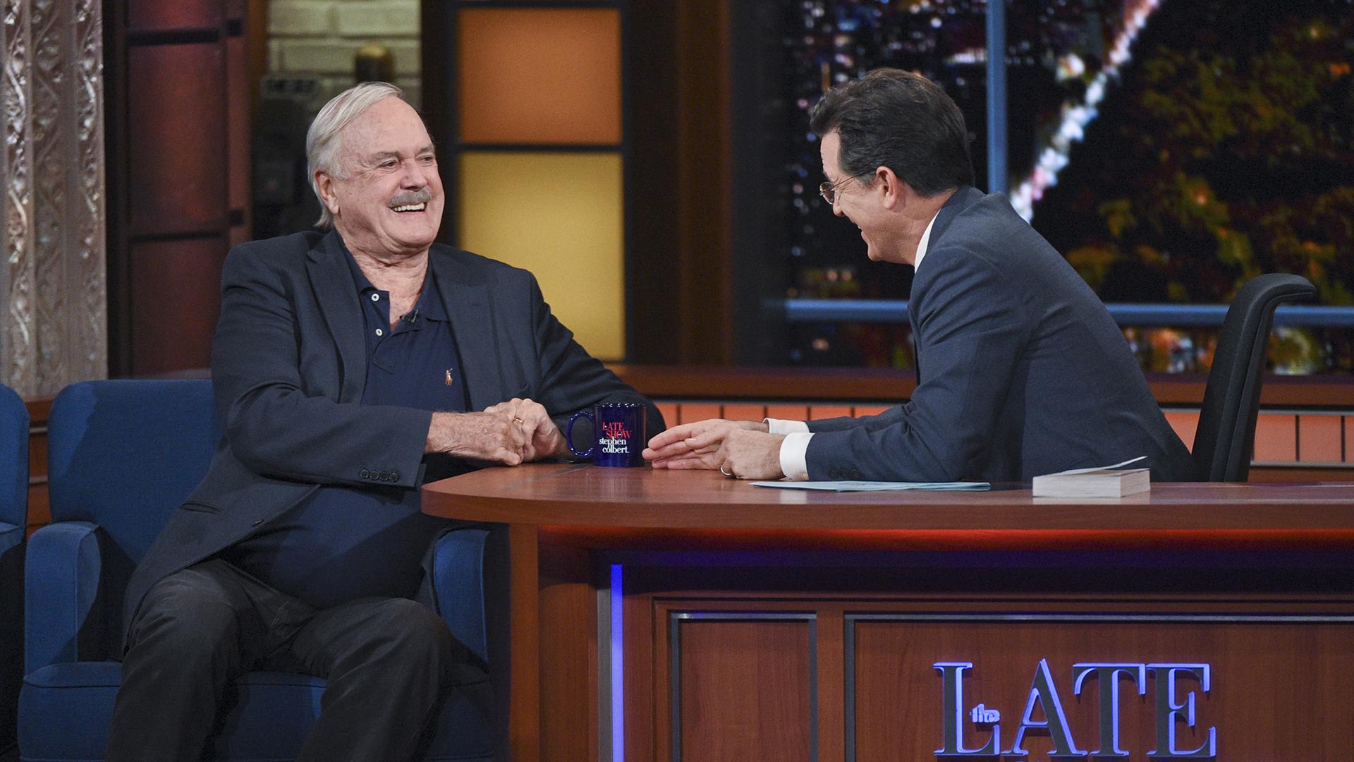 John Cleese and Stephen Colbert