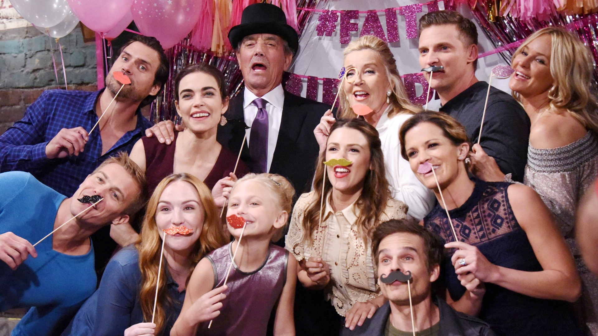 Everyone got their mustache on!