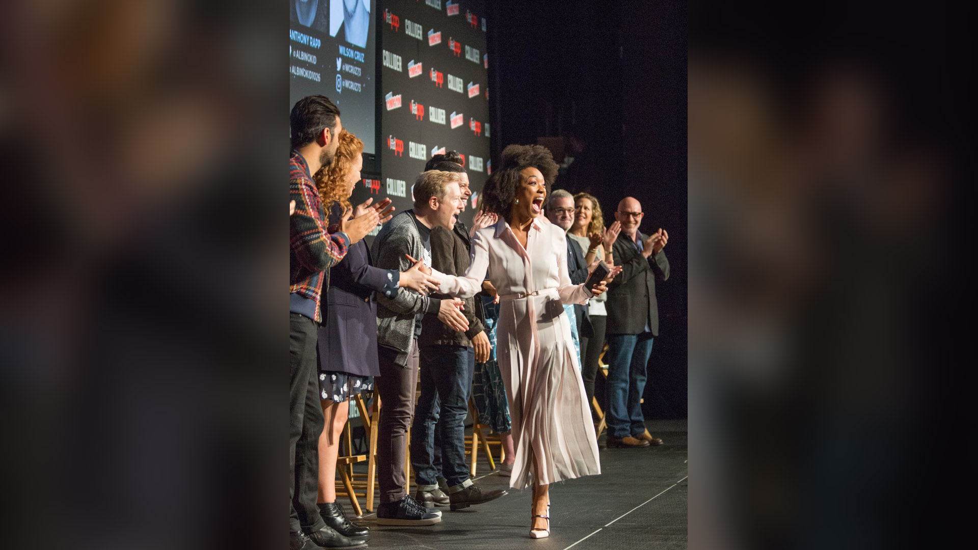Sonequa Martin-Green with the cast and crew