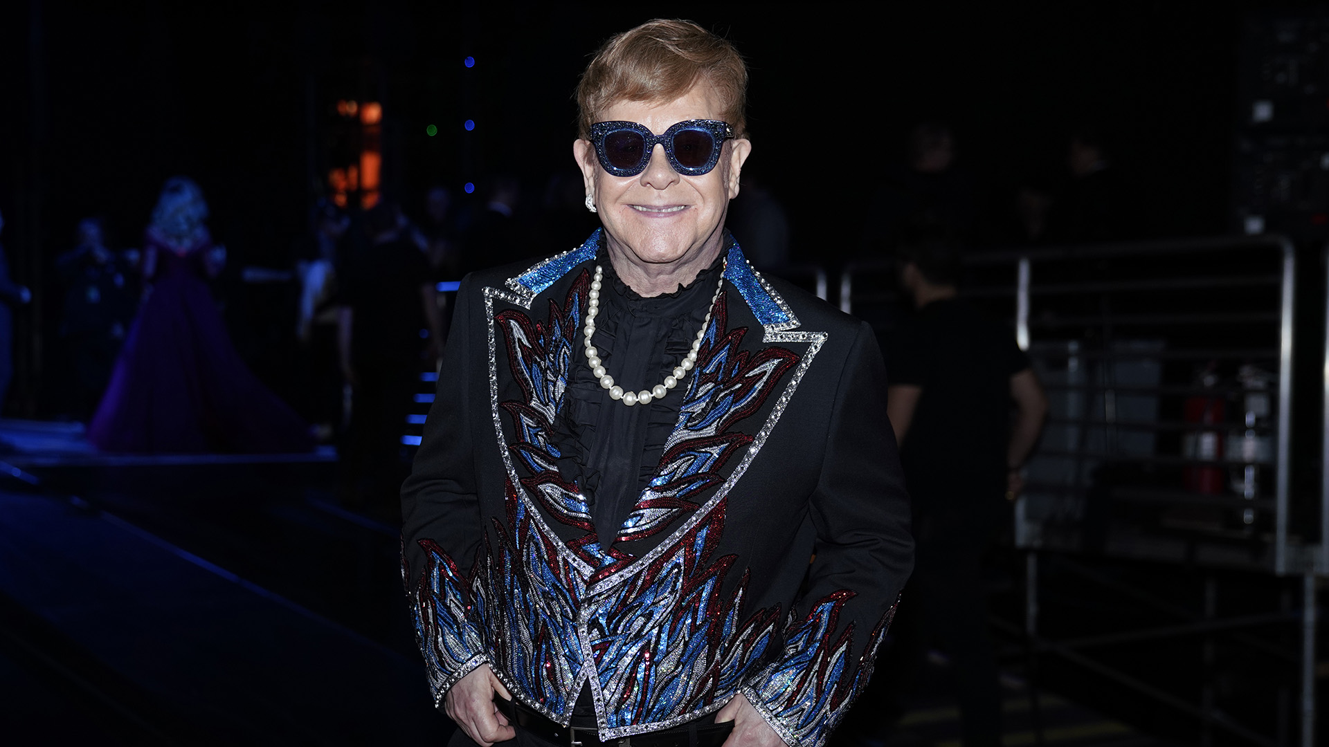 Performer Elton John, who took the Madison Square Garden stage to play