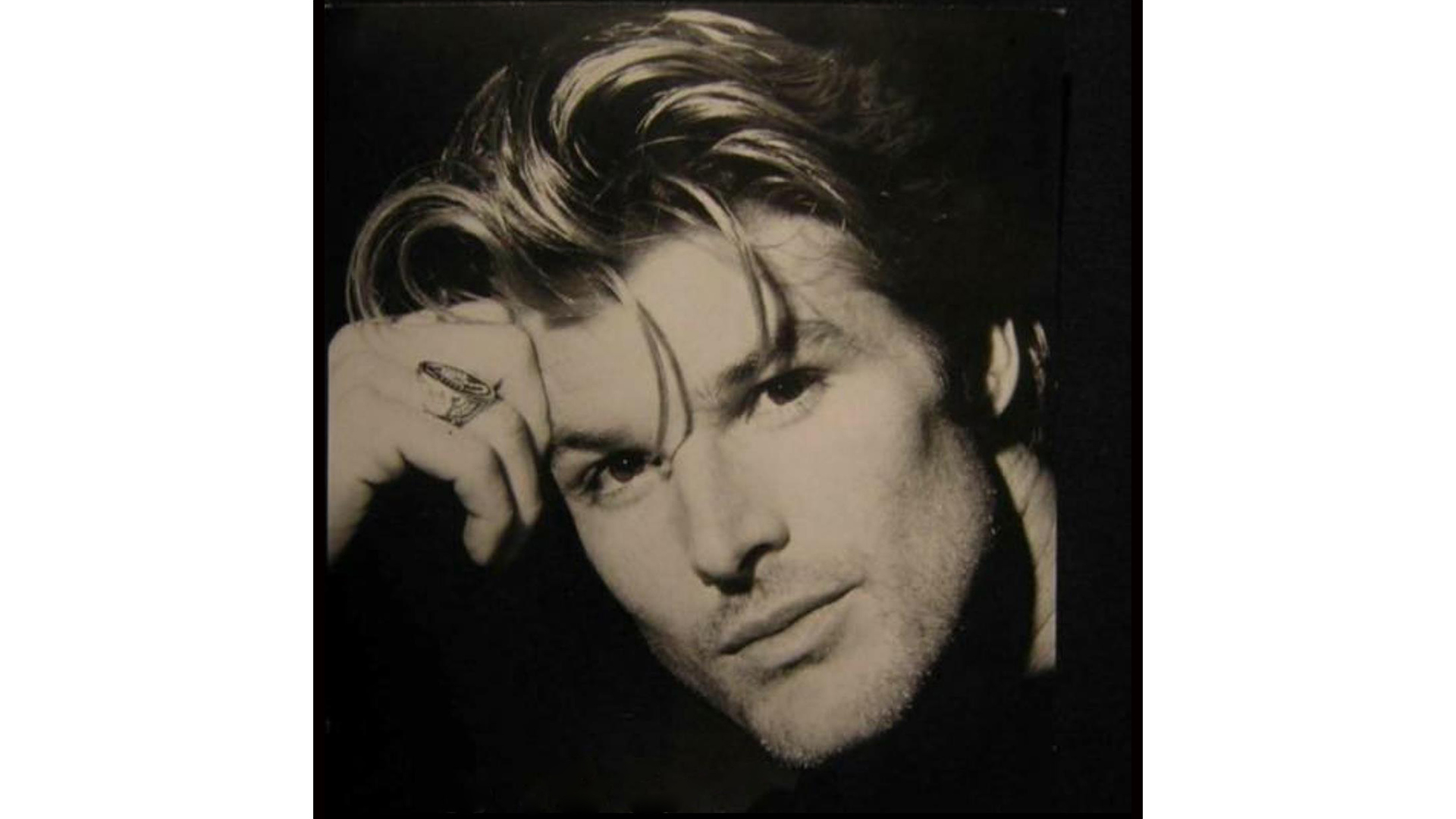 Winsor Harmon oozed coolness with swept-back hair.