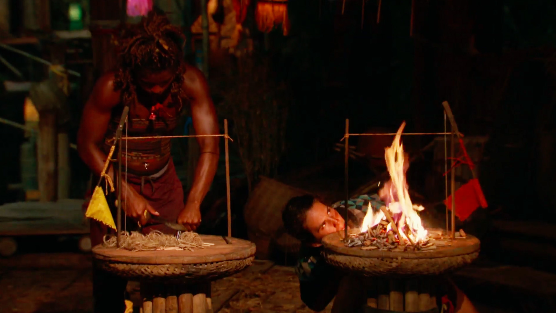 4. A fire-making challenge determines the Final 3.