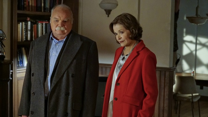 Richard Riehle as Walt Osorio and Jessica Walter as Judith McKnight