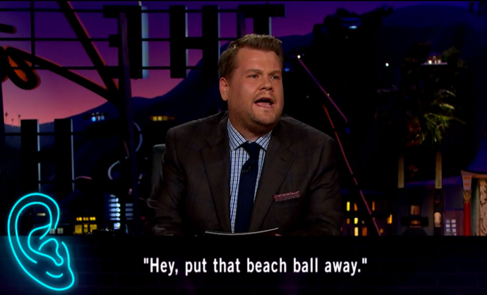 Hey, put that beach ball away.