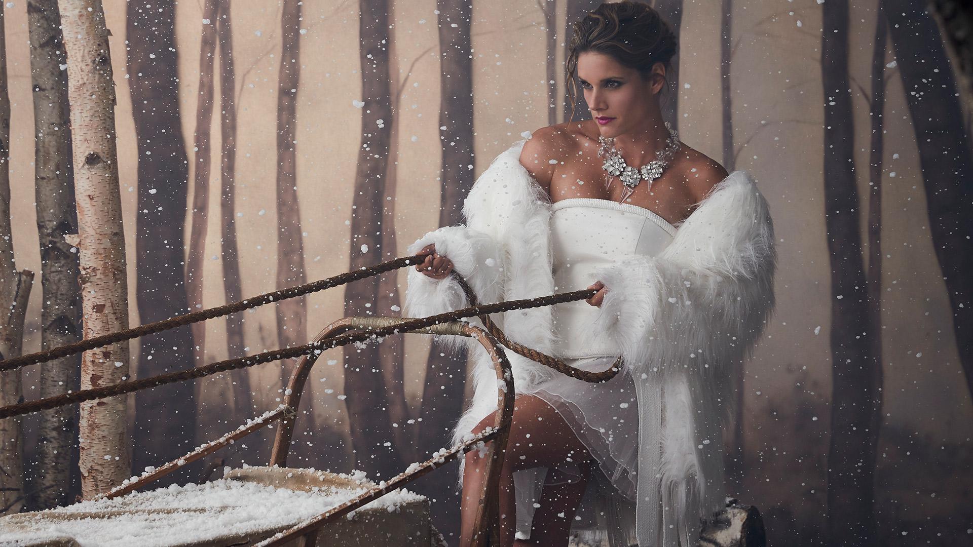 Missy Peregrym as a snow queen