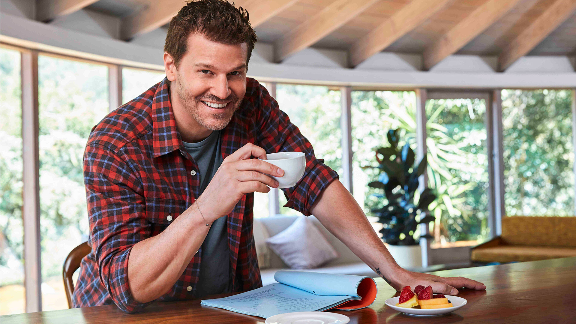 David Boreanaz, especially looking perfect in plaid