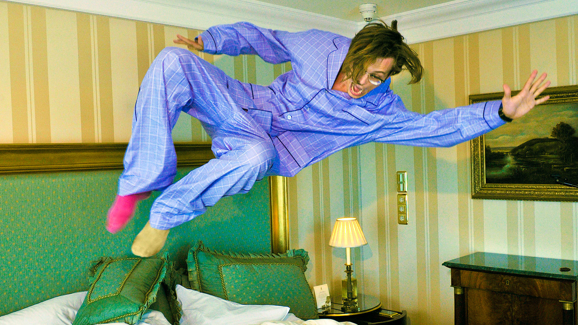 Matthew Gray Gubler, especially when he jumps on beds and wears mismatched socks