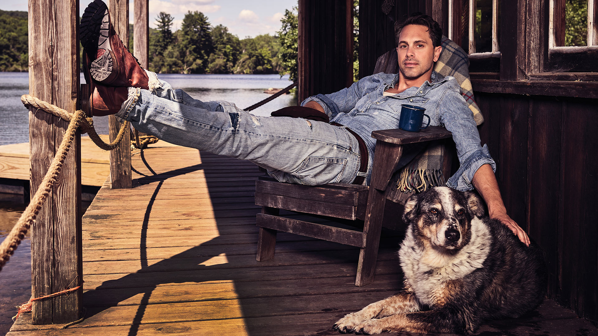 Thomas Sadoski, especially when he's all rugged good looks and country cool