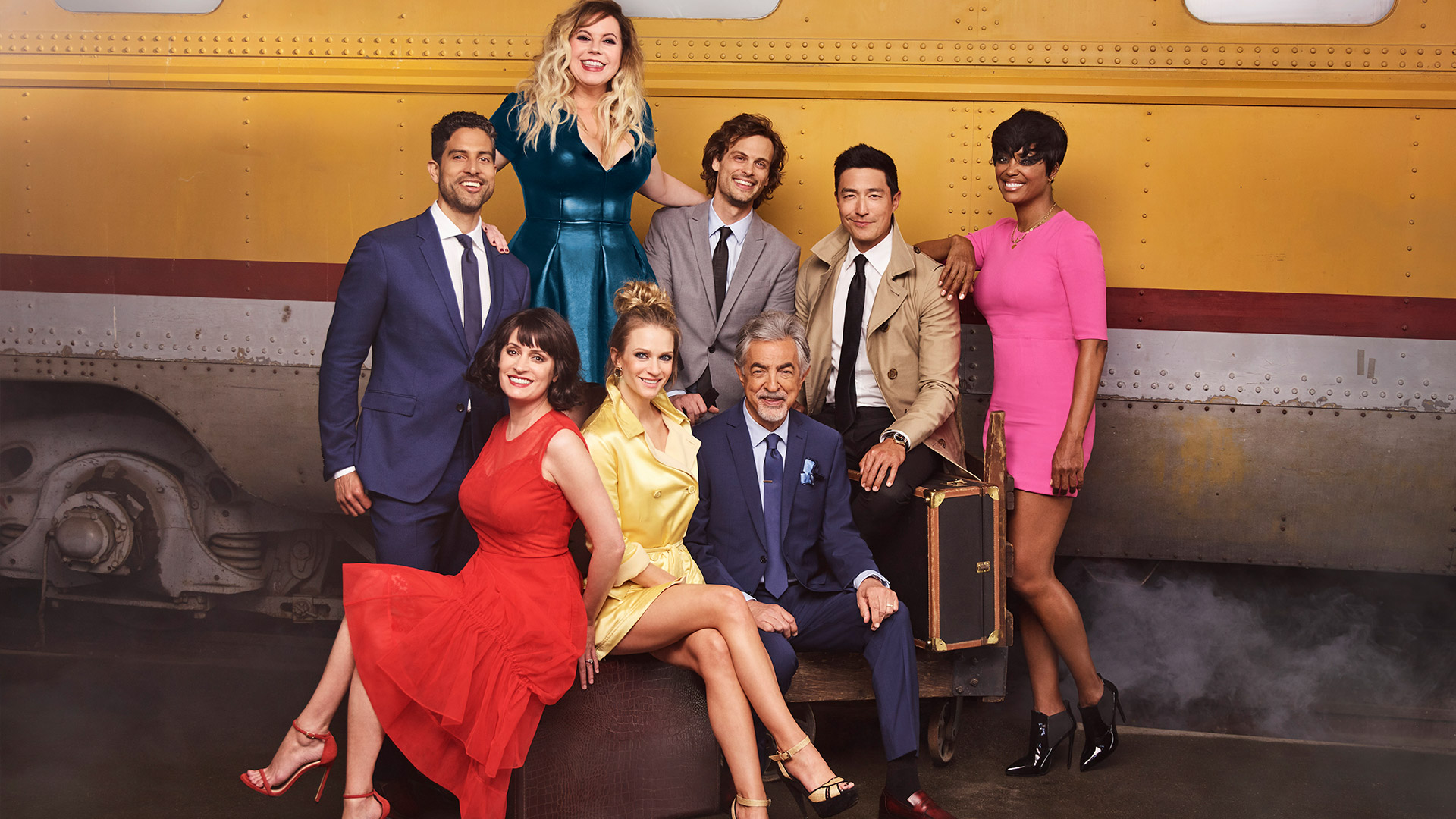 The cast of Criminal Minds, especially when they get together for a farewell photo shoot.