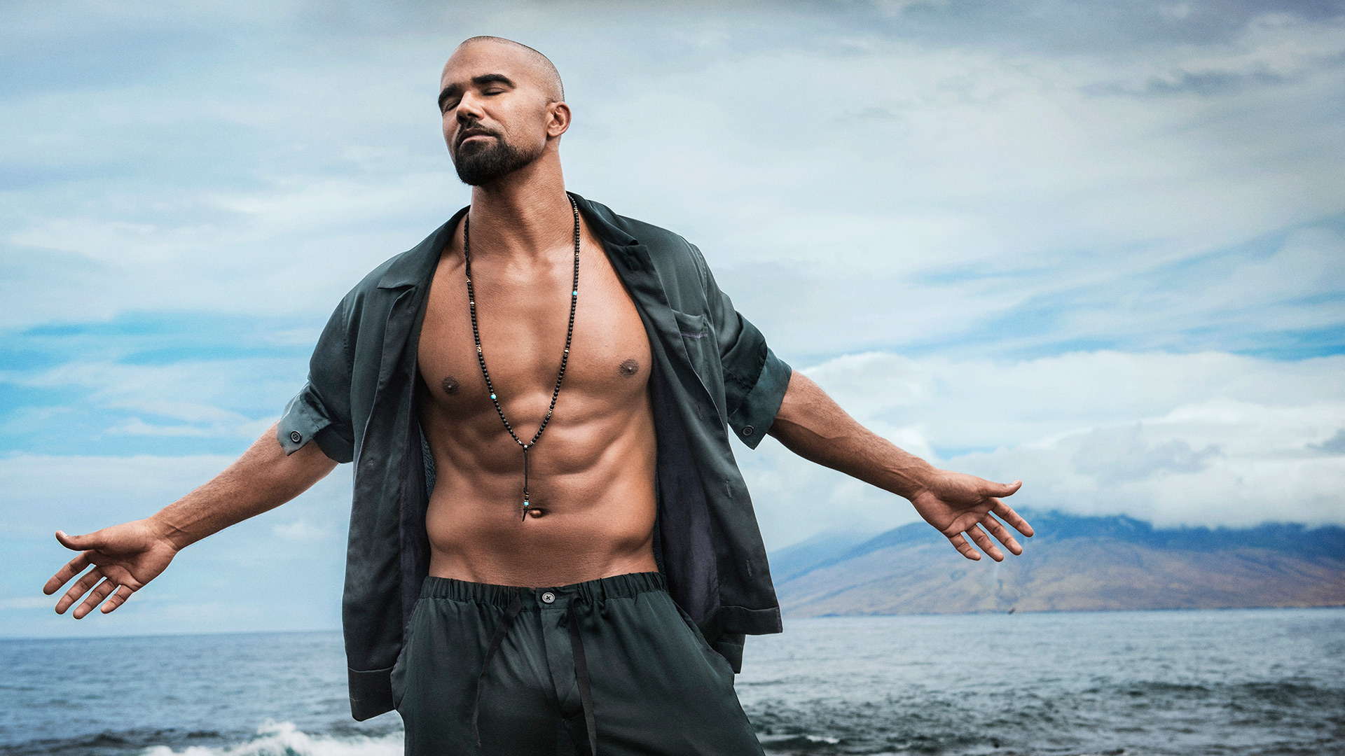 Shemar Moore, especially when he shows off his washboard abs