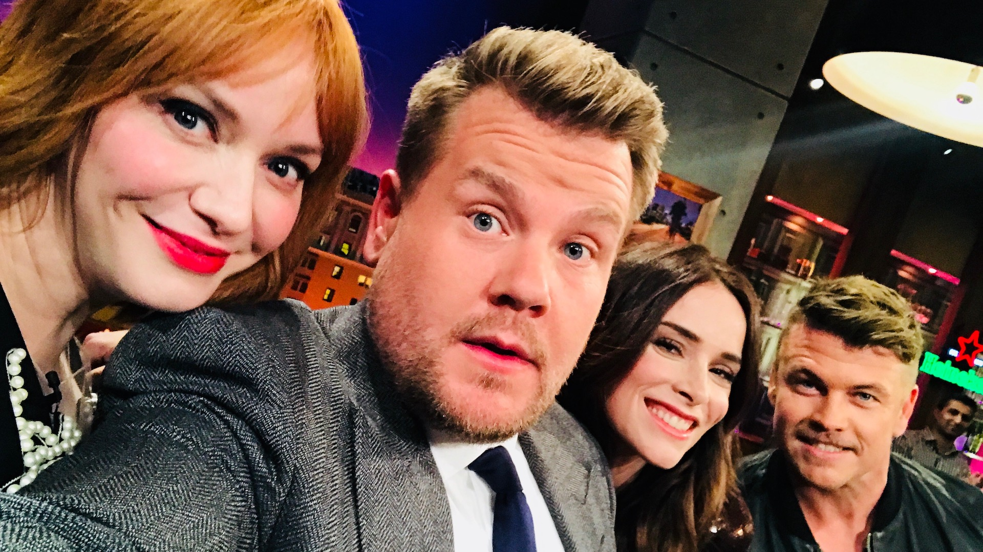Christina Hendricks, Abigail Spencer, & Luke Hemsworth