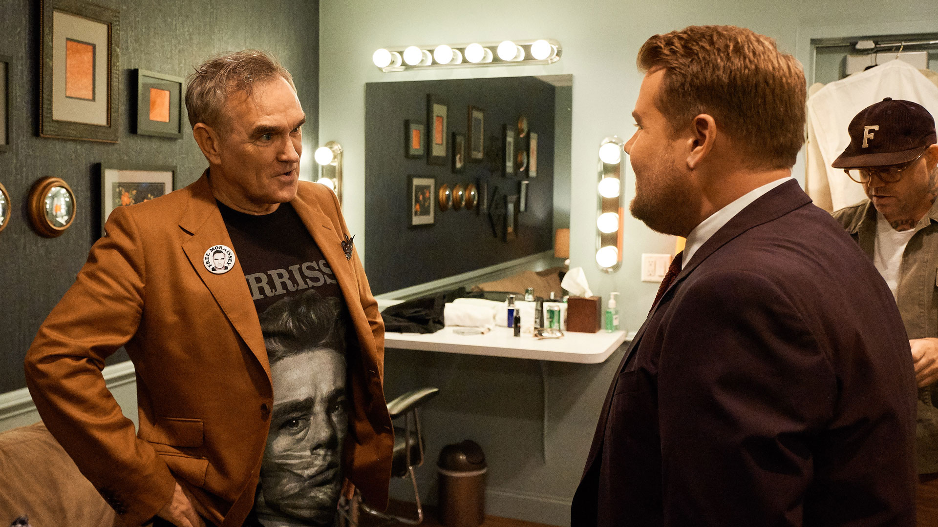 James and Morrissey prep before the show