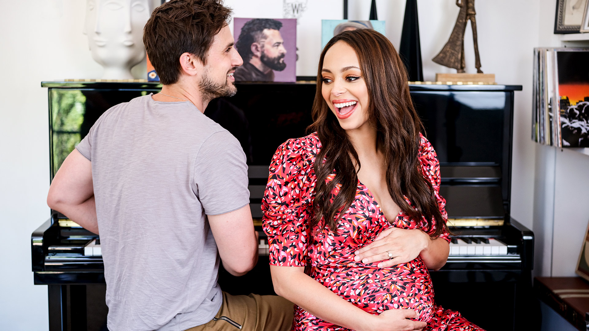 Amber Stevens West is right at home
