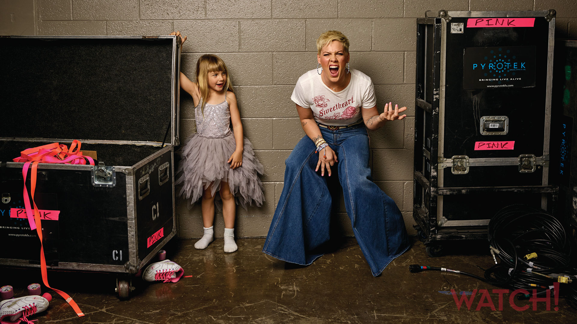 P!nk and her very special helper are ready to rock
