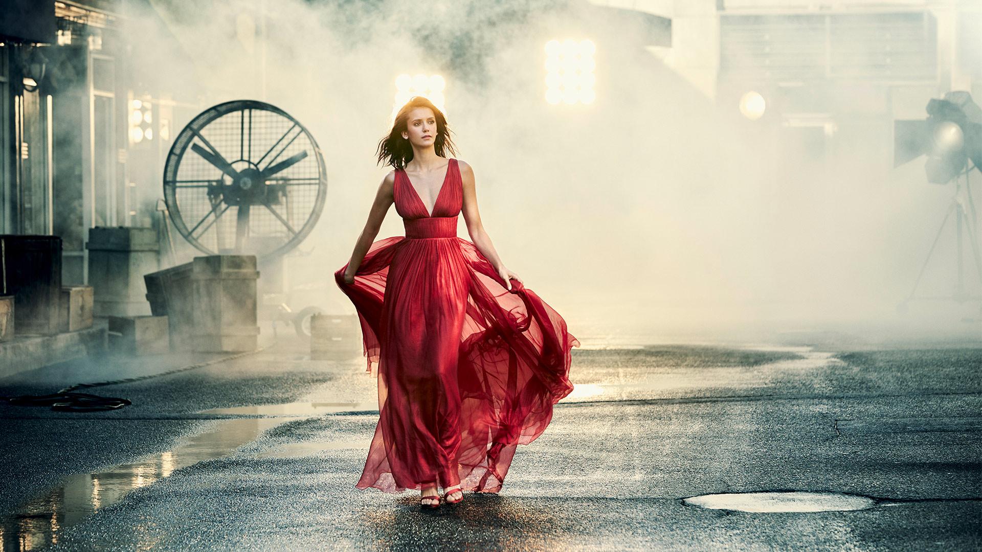 Nina Dobrev dazzles in this designer fashion photo shoot