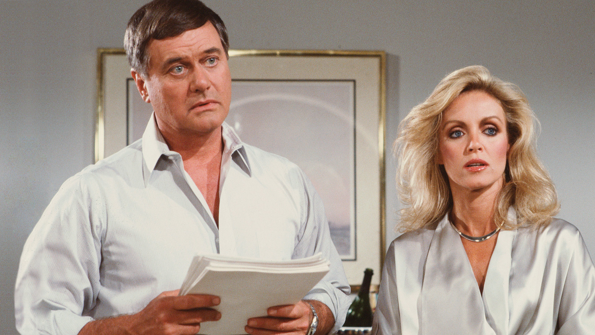 Double trouble with Donna Mills and Larry Hagman