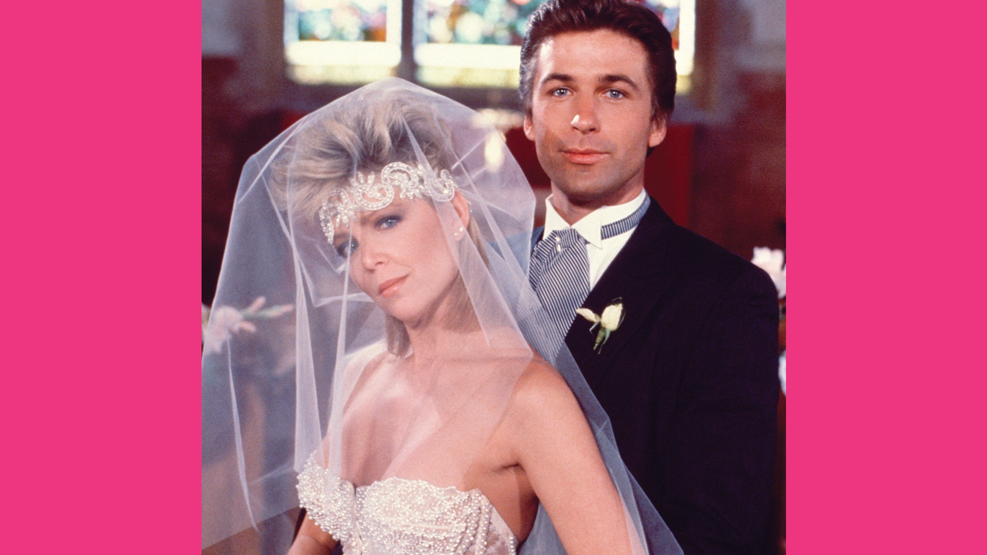 Lisa Hartman as Cathy Geary and Alec Baldwin as Joshua Rush