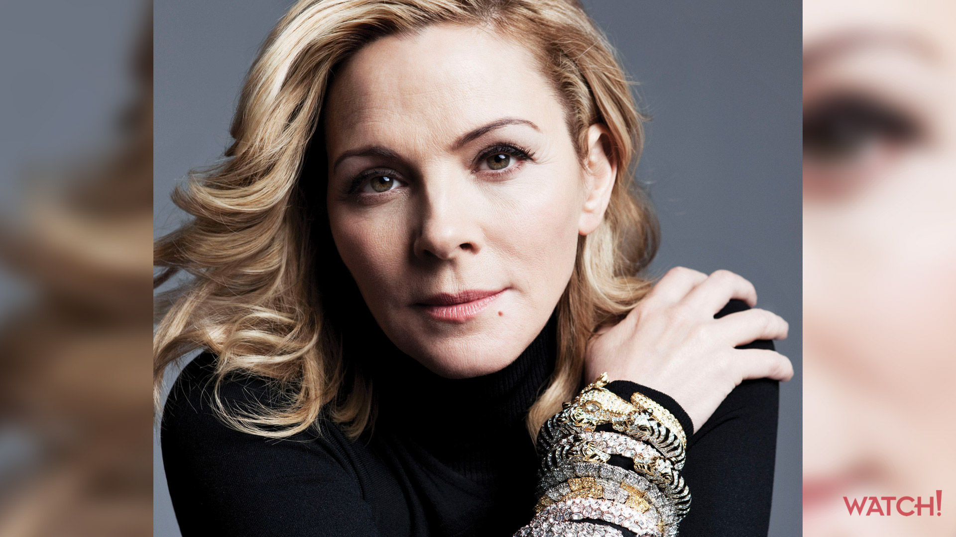 Kim Cattrall's got her bling on