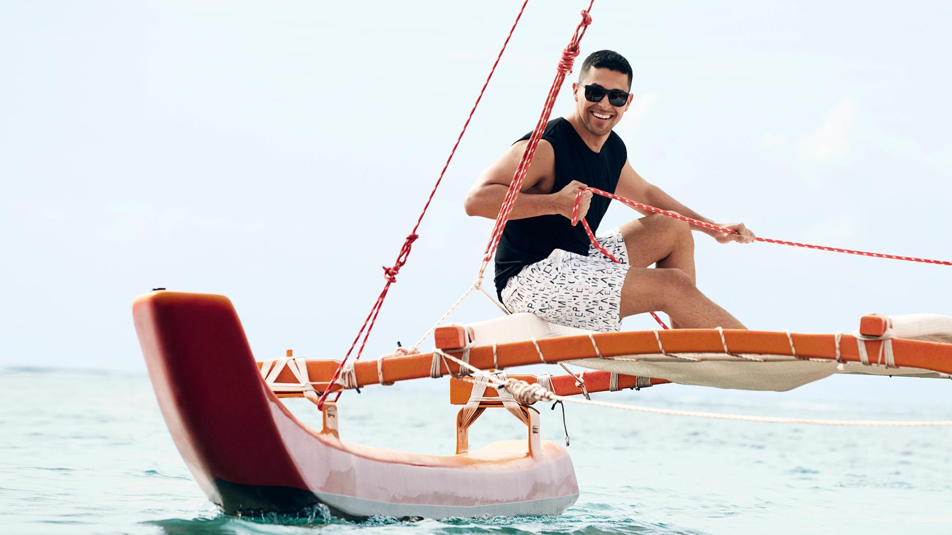 Wilmer Valderrama sailing away