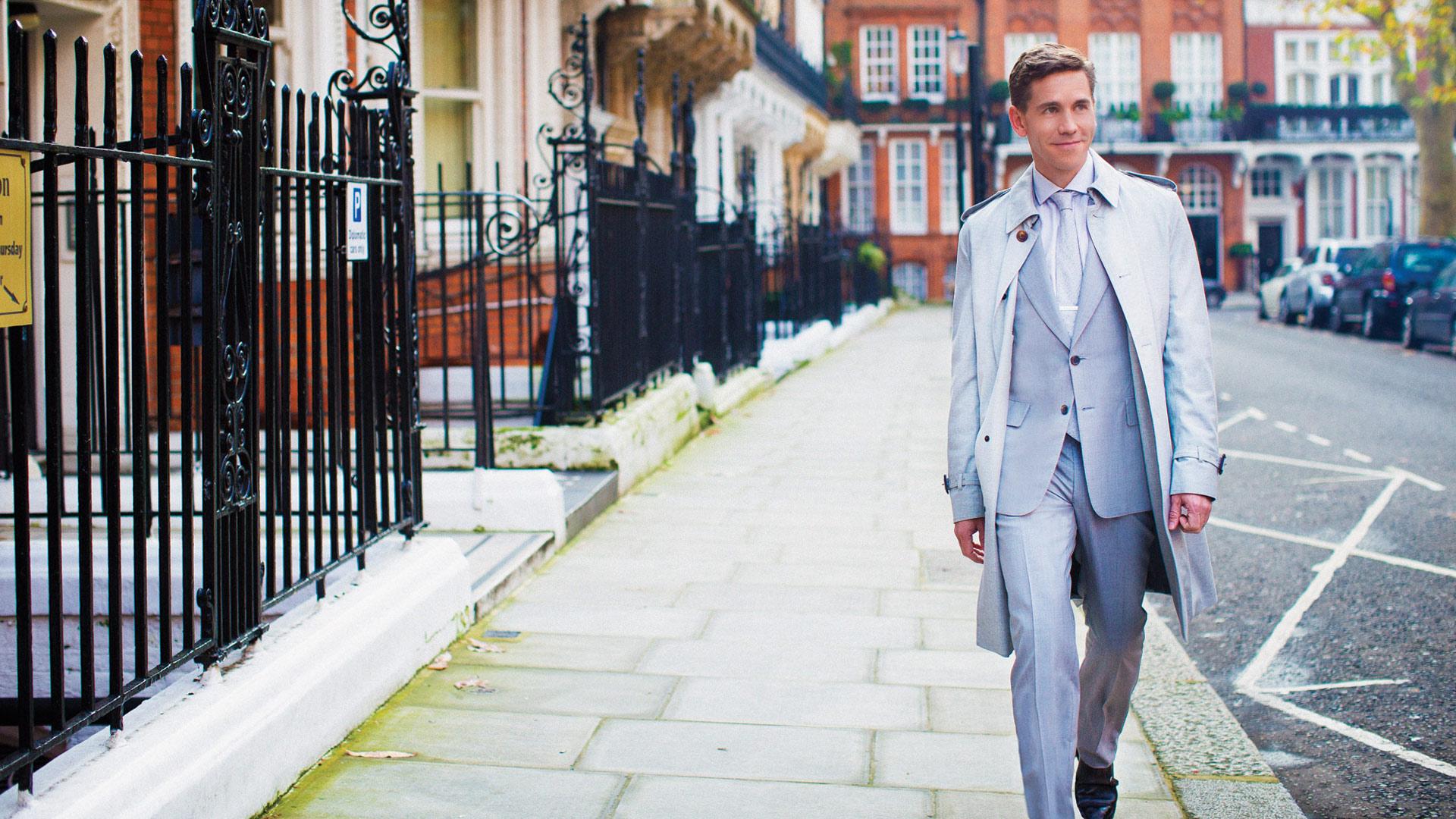 Brian Dietzen dashing in London