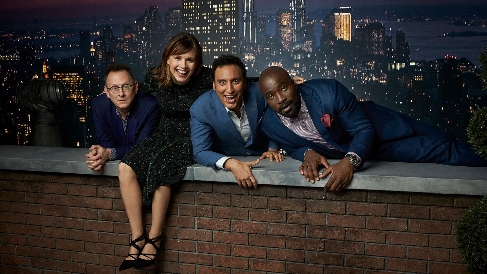 Michael Emerson, Katja Herbers, Aasif Mandvi, and Mike Colter