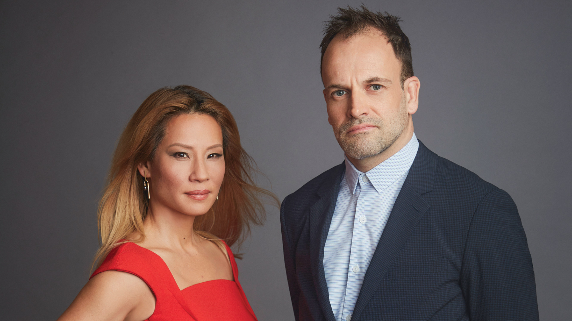 Jonny Lee Miller and Lucy Liu, Elementary