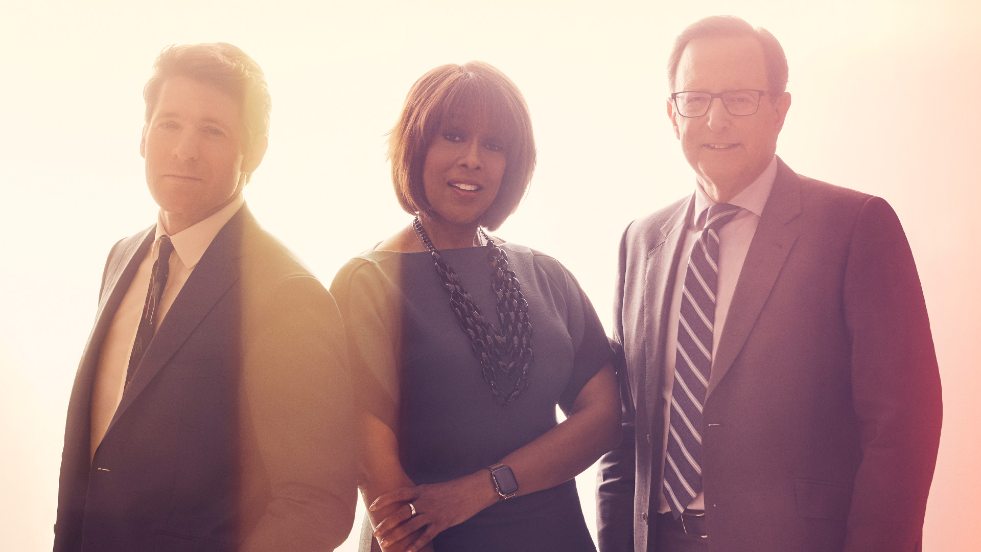 Gayle King, Anthony Mason, and Tony Dokoupil of CBS This Morning have a bright new look