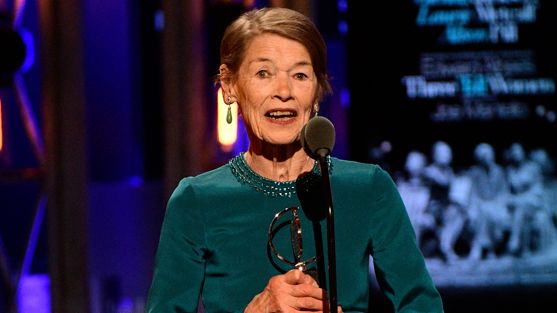 Glenda Jackson wins Best Leading Actress in a Play at the 2018 Tony Awards.