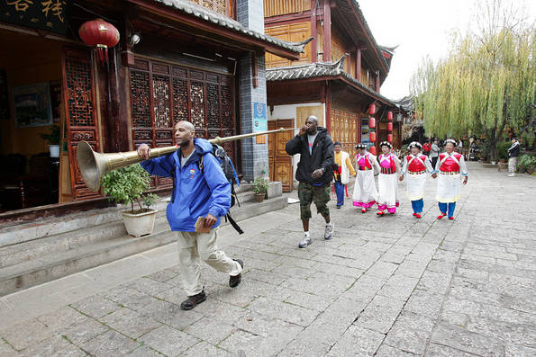 Globetrotters Carry a Ceremonial Chinese Horn