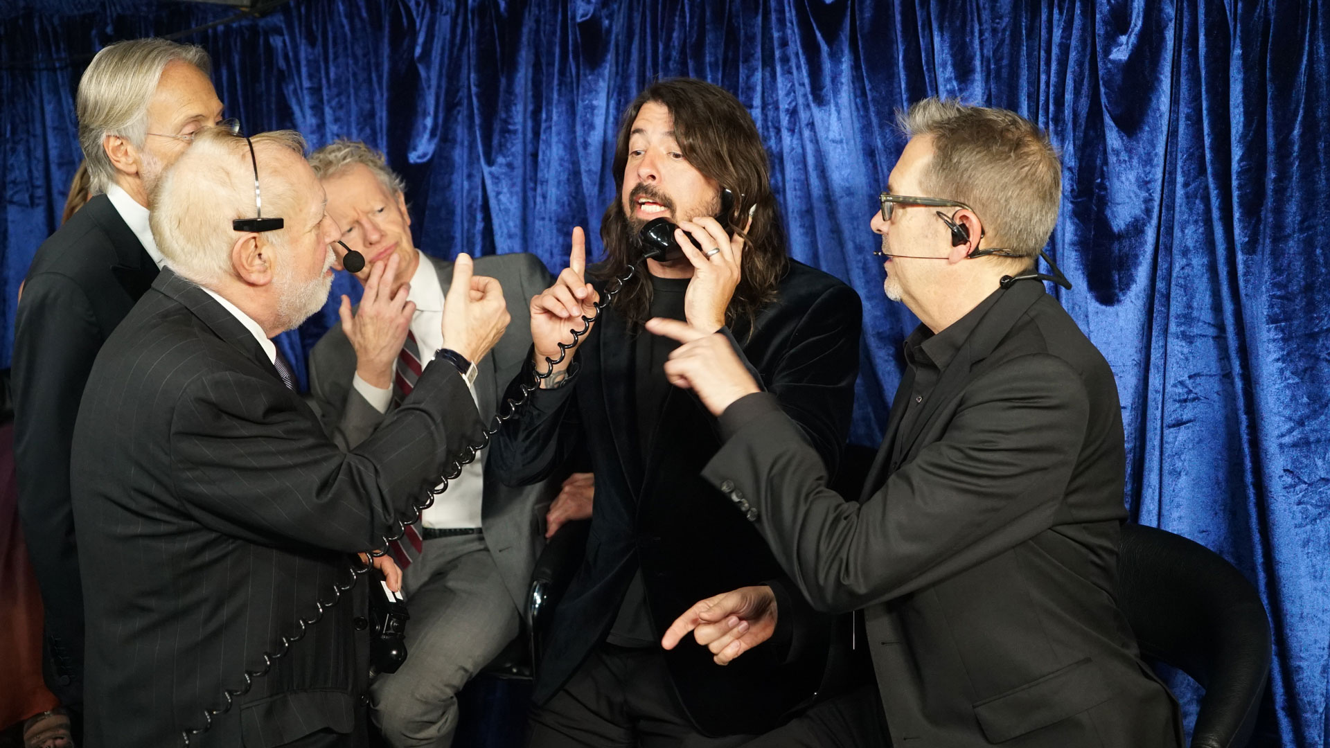 Dave Grohl takes an important phone call