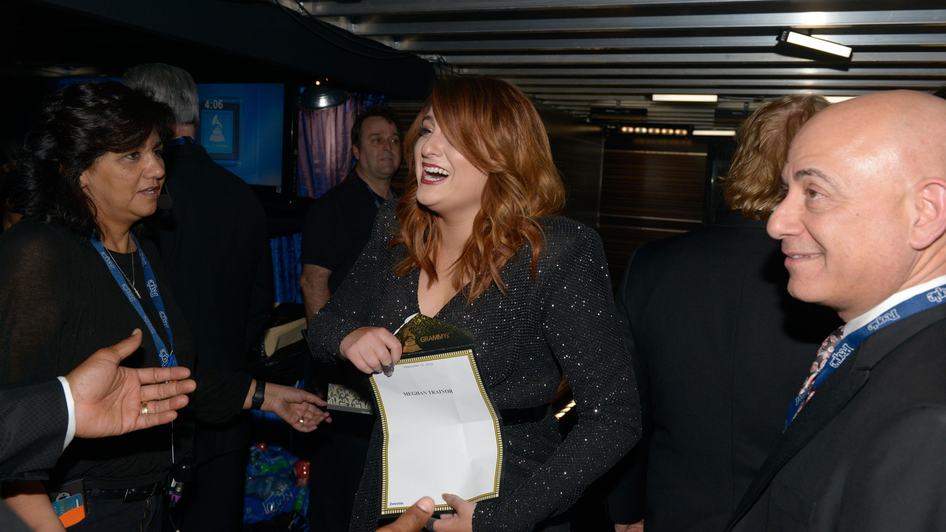 Meghan Trainor cries tears of joy after her Best New Artist GRAMMY win