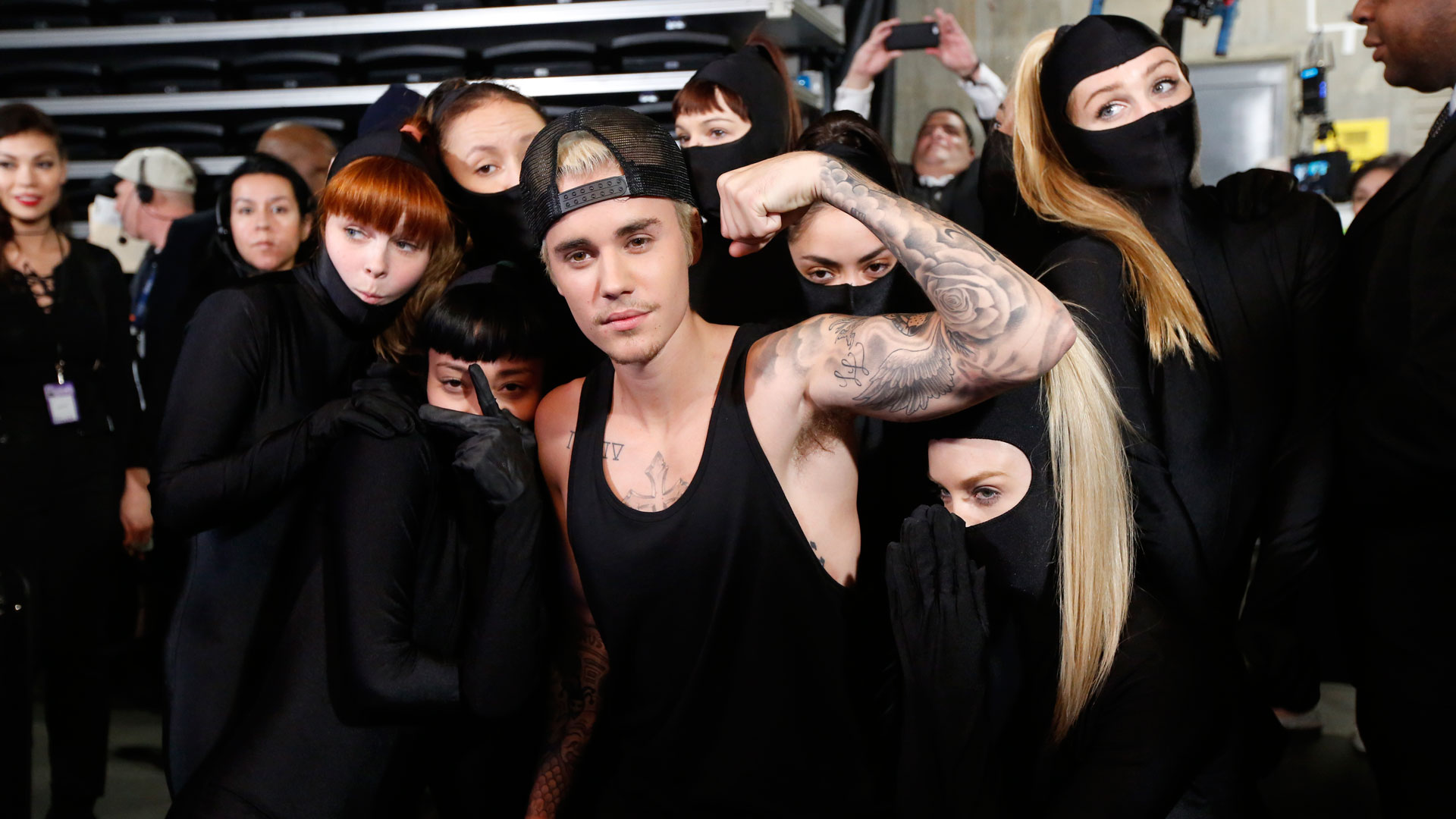 We'll take two tickets to the gun show, Justin Bieber