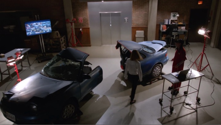 The episode marks the first time in more than 300 episodes that a car has been chopped completely in half.
