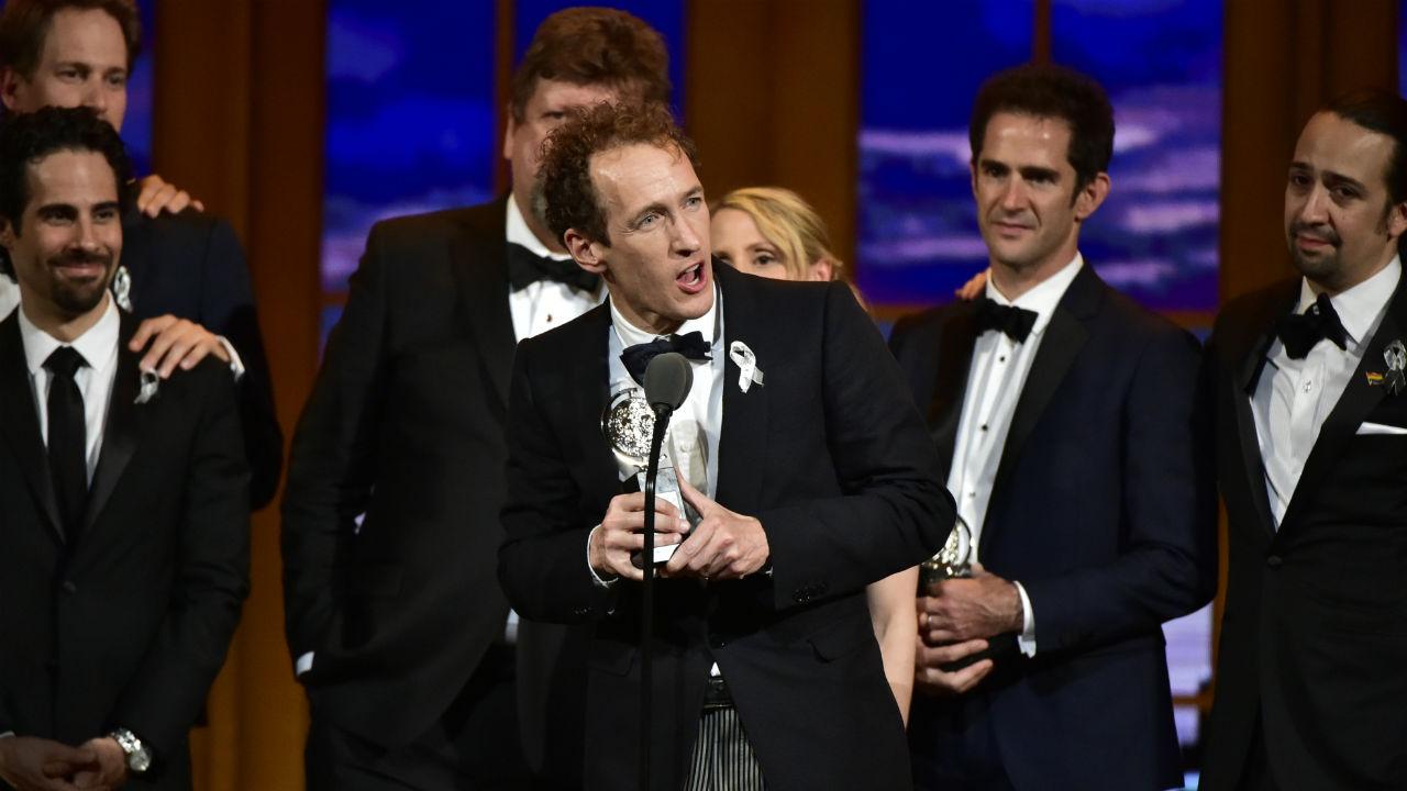 Hamilton wins the 2016 Tony Award for Best Musical.