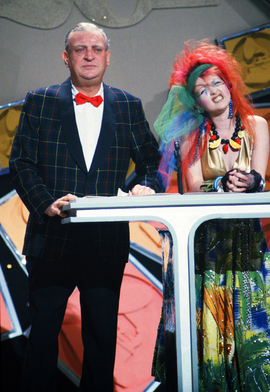 Rodney Dangerfield and Cyndi Lauper