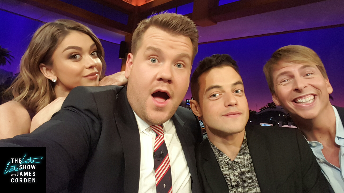 Sarah Hyland, Rami Malek and Jack McBrayer