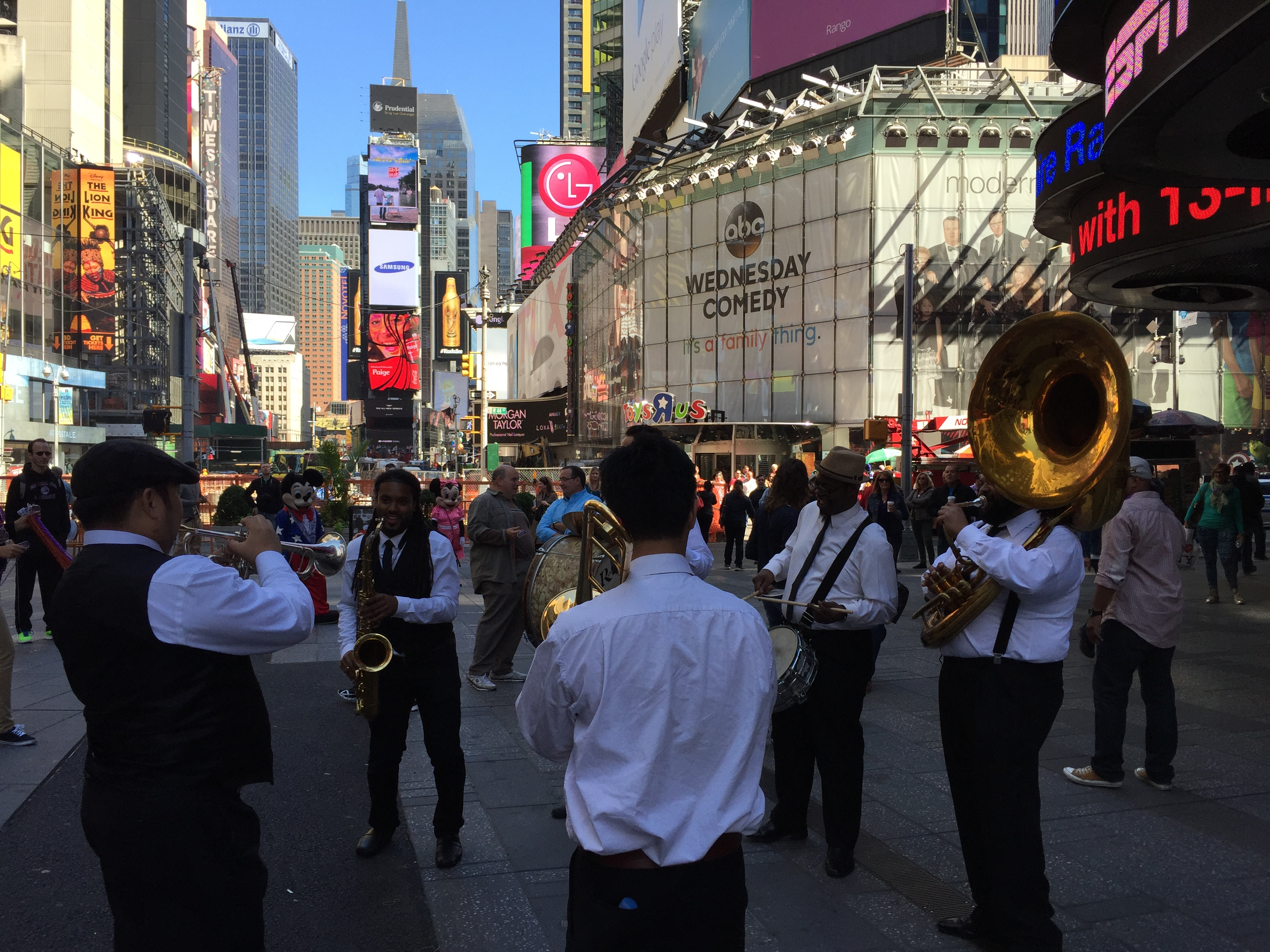 NCIS New Orleans Jazz Band in Times Square