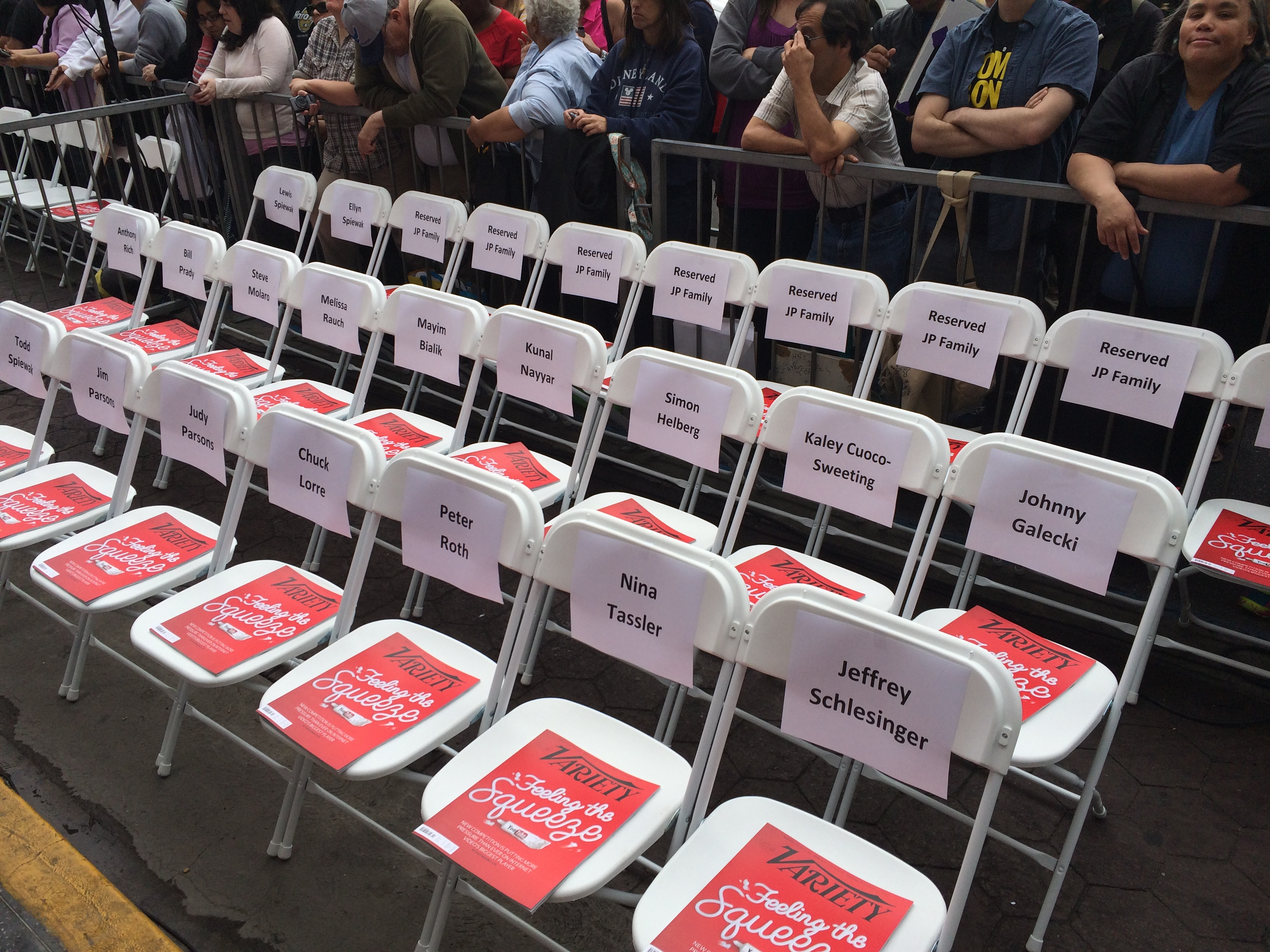 Seats are ready