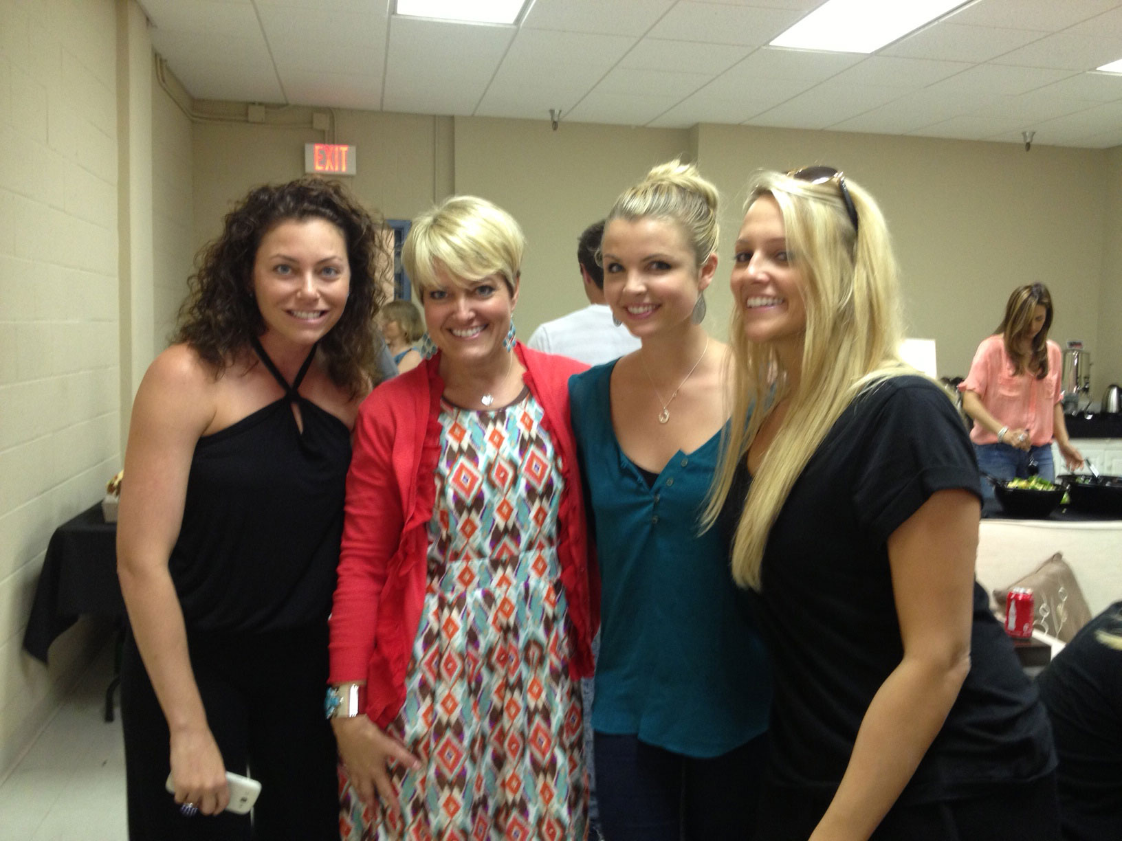 Corinne, Dawn, Andrea and Allie Before the Finale