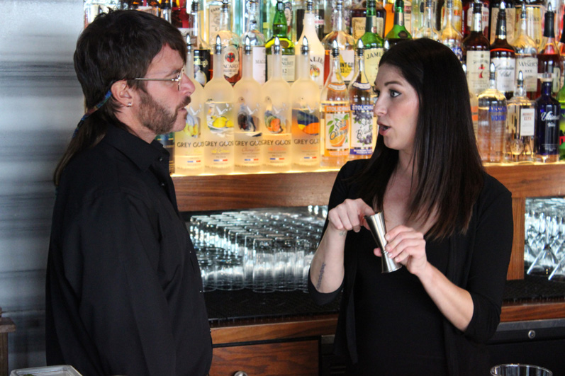 Scott gets behind the bar to learn the art of mixology.