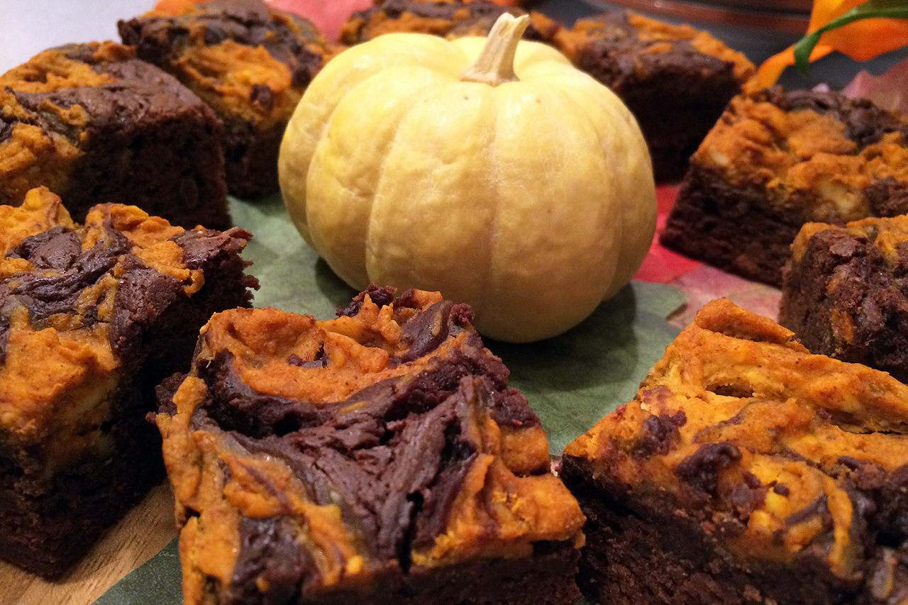 Slow Cooker Pumpkin Brownies