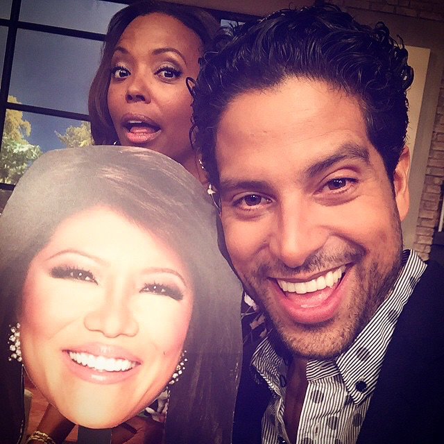 Julie might not have been there, but this cut-out of her head was!