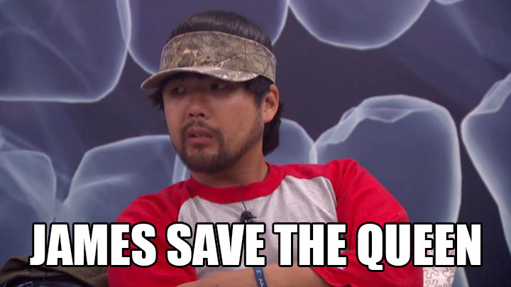 James fights to save his queen.