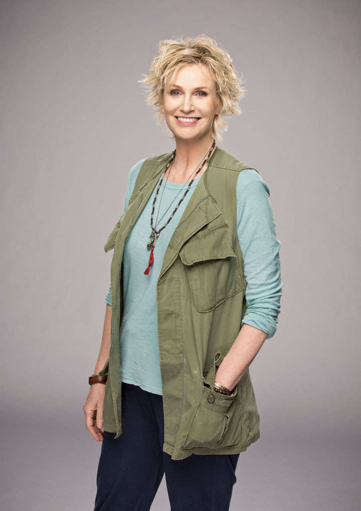 ​1. Jane Lynch as our guardian angel? Yes, please!