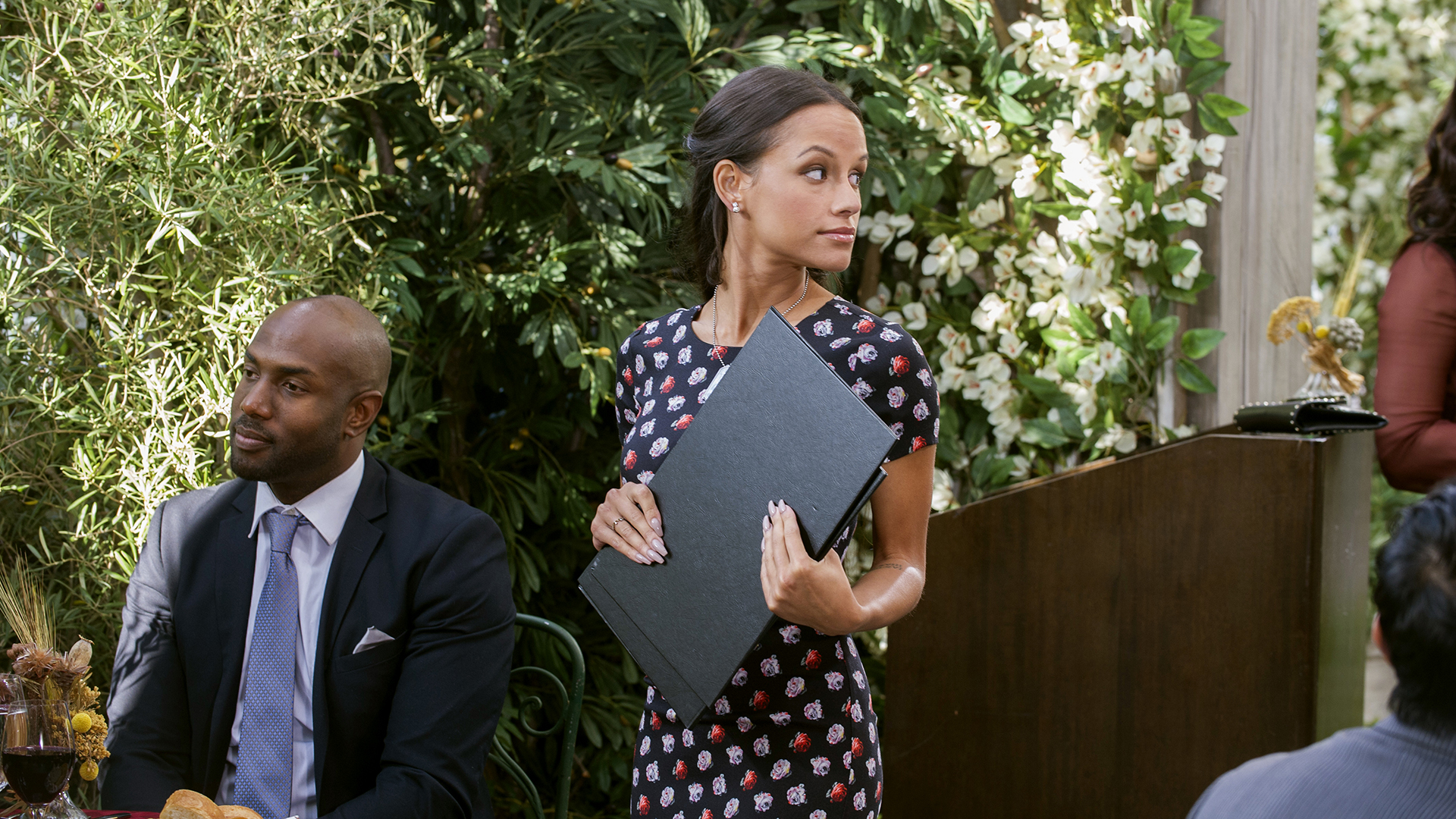 Jessica plays a hostess at II Giardino on The Bold and the Beautiful.