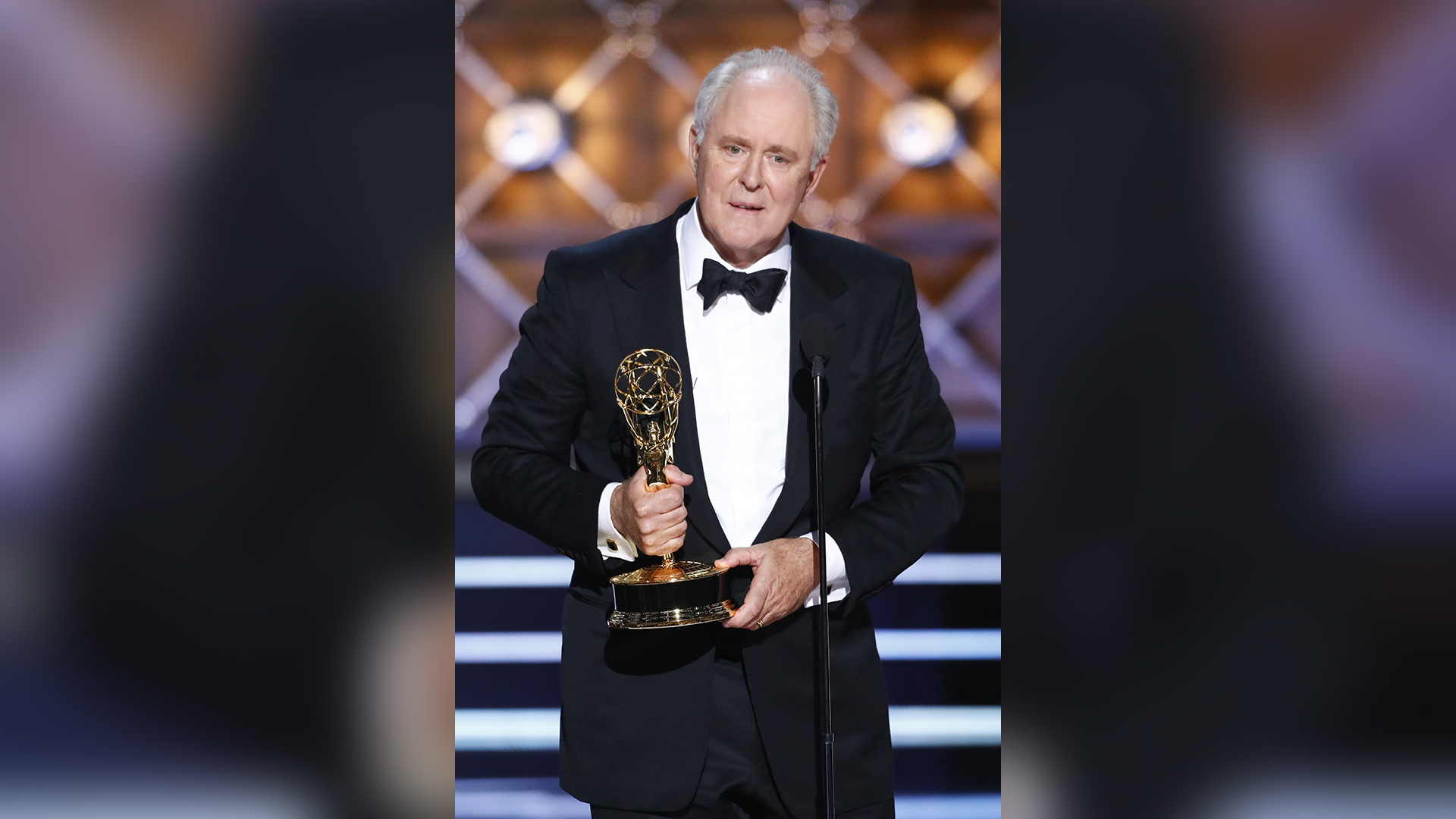 John Lithgow wins Outstanding Supporting Actor in a Drama Series at The 69th Emmy Awards.
