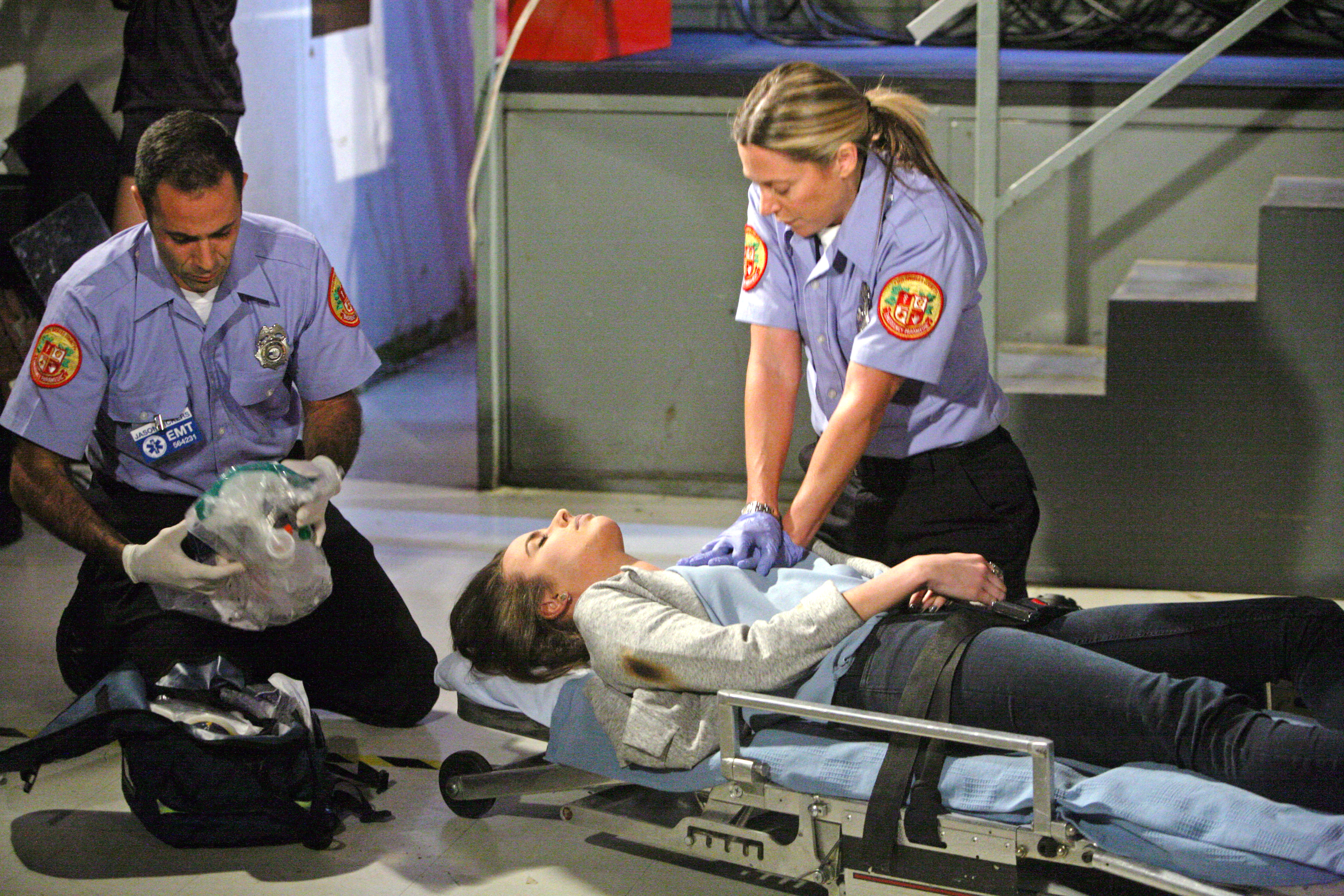 Ivy gets taken away to the hospital.