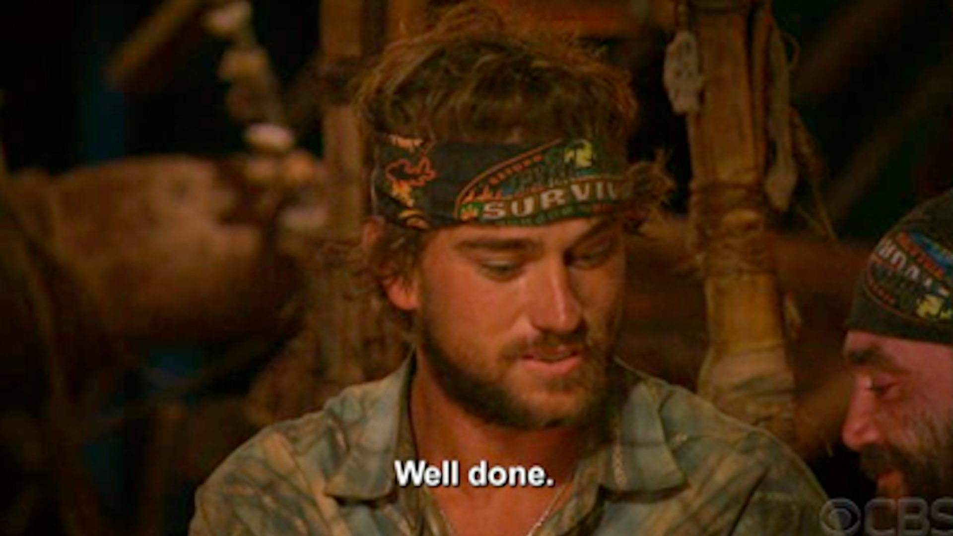 J.T. Thomas gives Immunity Idol to Russell Hantz on Survivor: Heroes vs. Villains