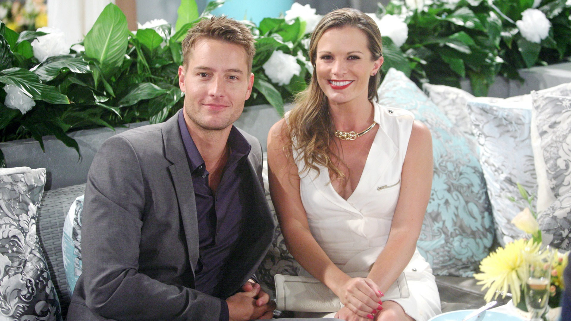 How do you and Melissa Claire Egan prepare for your scenes together?