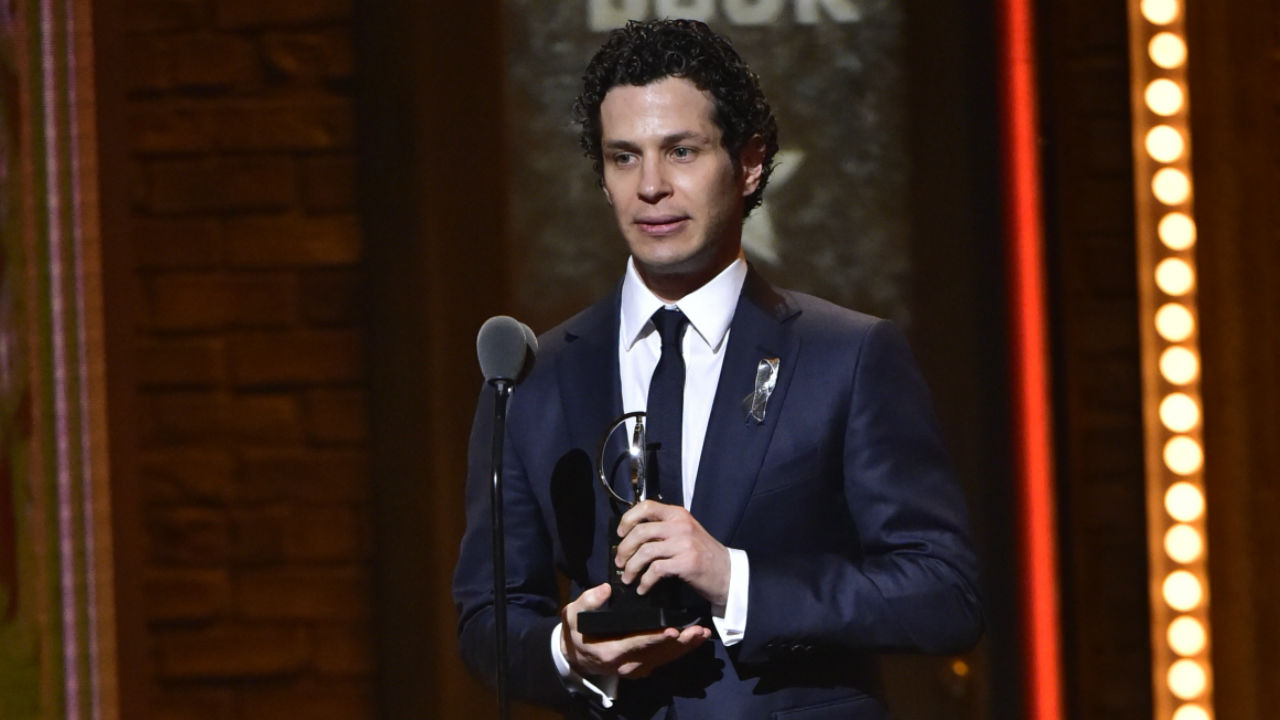 Thomas Kail wins the 2016 Tony Award for Direction of a Musical.